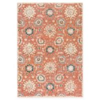 Surya Carlisle Floral Medallion 5-Foot 3-Inch x 7-Foot 3-Inch Area Rug in Rose