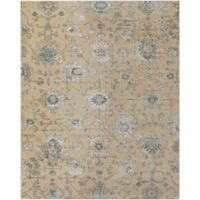 Surya Carlisle Classic Medallion 7-Foot 10-Inch x 9-Foot 10-Inch Area Rug in Light Brown/Blue