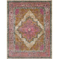 Surya Milamma Floral Border Medallion 7-Foot 10-Inch x 10-Foot 3-Inch Area Rug in Camel
