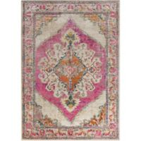 Surya Milamma Medallion 2-Foot x 3-Foot Accent Rug in Pink