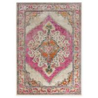 Surya Milamma Medallion 5-Foot 3-Inch x 7-Foot 3-Inch Area Rug in Pink