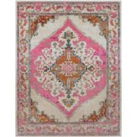 Surya Milamma Medallion 7-Foot 10-Inch x 10-Foot 3-Inch Area Rug in Pink