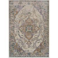 Surya Milamma Floral Medallion 2-Foot x 3-Foot Accent Rug in Khaki