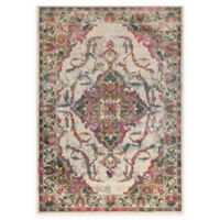 Surya Milamma Floral Medallion 5-Foot 3-Inch x 7-Foot 3-Inch Area Rug in Pink