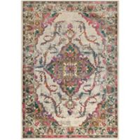 Surya Milamma Floral Medallion 6-Foot 7-Inch x 9-Foot 6-Inch Area Rug in Pink