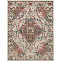 Surya Milamma Floral Medallion 7-Foot 10-Inch x 10-Foot 3-Inch Area Rug in Pink