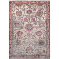 Surya Milamma Floral 5-Foot 3-Inch x 7-Foot 3-Inch Area Rug in Pink