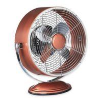 Deco Breeze® Retro Swivel 2-Speed Table Fan in Copper Metallic