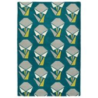 Kaleen Origami Collage 3-Foot 6-Inch x 5-Foot 3-Inch Area Rug in Teal