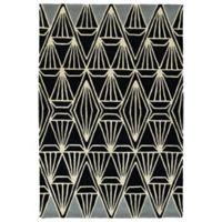 Kaleen Origami Prism 2-Foot x 3-Foot Accent Rug in Black