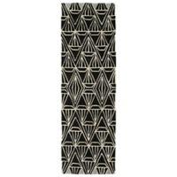 Kaleen Origami Prism 2-Foot 6-Inch x 8-Foot Runner in Black