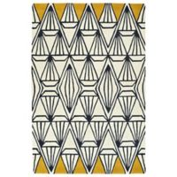 Kaleen Origami Prism 3-Foot 6-Inch x 5-Foot 3-Inch Area Rug in Ivory