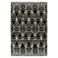 Kaleen Origami Prism 5-Foot 7-Inch x 6-Foot Area Rug in Black