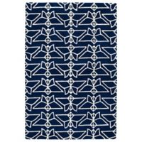 Kaleen Origami Wings 3-Foot 6-Inch x 5-Foot 3-Inch Area Rug in Navy