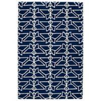 Kaleen Origami Wings 5-Foot x 7-Foot 6-Inch Area Rug in Navy