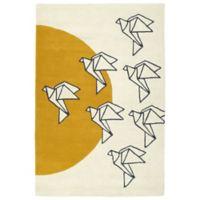 Kaleen Origami Sunrise 8-Foot x 10-Foot Area Rug in Ivory
