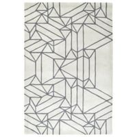 Kaleen Origami Linear 3-Foot 6-Inch x 5-Foot 3-Inch Area Rug in Mint
