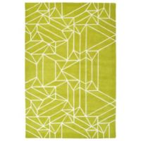 Kaleen Origami Linear 3-Foot 6-Inch x 5-Foot 3-Inch Area Rug in Lime Green