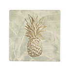 Thirstystone® Occasions Pineapple On Cream Square Coaster