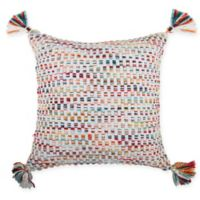 Make-Your-Own-Pillow Salem Square Throw Pillow in Navy/White