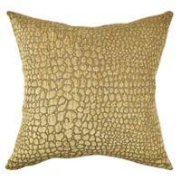 Vesper Lane Bold Animal Print Square Throw Pillow in Tan