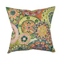 Vesper Lane Jacobean Square Throw Pillow in Pastel Pink