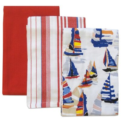 buy kitchen towels coastal kitchen & dining from bed bath & beyond