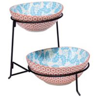 Certified International Chelsea Mix and Match Honeycomb 2-Tier Server