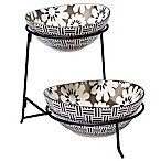 Certified International Chelsea Mix and Match Floral 2-Tier Server