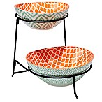 Certified International Chelsea Mix and Match Ikat 2-Tier Server