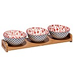 Certified International Chelsea Mix and Match Floral Lattice 4-Piece Serving Set