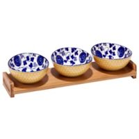 Certified International Chelsea Mix and Match Poppy 4-Piece Serving Set