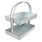 Thirstystone® Galvanized Steel and Copper 2-Tier Server