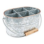 Thirstystone® Galvanized Metal and Copper Flatware Caddy