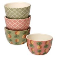 Certified International Floridian Ice Cream Bowls in Coral (Set of 4)