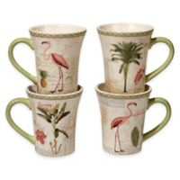 Certified International Floridian Mugs in Coral (Set of 4)