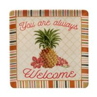 Certified International Floridian Square Platter in Coral