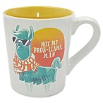 "Boston Warehouse® ""Not My Prob-Llama, Man"" Mug in White"