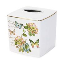 Avanti Butterfly Garden Tissue Cover in White