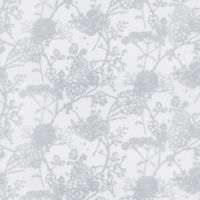 GLOWE Flower Garden Fabric Roller Shade Swatch in Silver