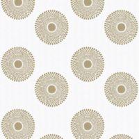 GLOWE Sunburst Fabric Roller Shade Swatch in Gold