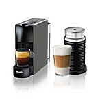 Nespresso® by Breville® Essenza Mini Espresso Maker with Aeroccino Frother in Grey