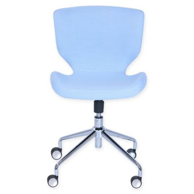 elle dcor madeline hourglass office task chair in blue - Rolling Chair