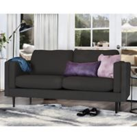 Elle Décor Simone Double Track Arm Sofa in Charcoal