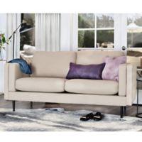 Elle Décor Simone Double Track Arm Sofa in Cream
