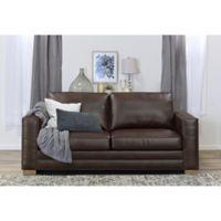 Serta® Mason Bonded Leather Sofa in Brown