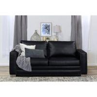 Serta® Mason Bonded Leather Sofa in Black