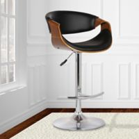 Armen Living Butterfly Bar Stool in Black