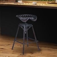 Armen Living Osbourne Adjustable Industrial Bar Stool in Copper