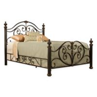 Hillsdale Grand Isle Queen Bed Set with Rails in Bronze